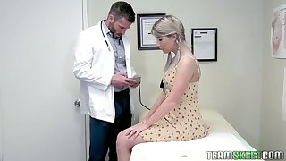 Pretty hottie Vienna Rose is fucked by taking young gynecologist