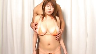 Asian spread out has inept Japanese tits