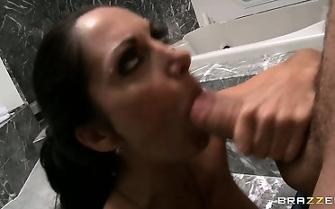 Painter is frustrated and his owner gives him a break with a blowjob