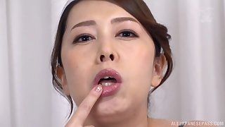 Kazama Yumi plays with throb dildo in will not hear of mouth for an obstacle best fun