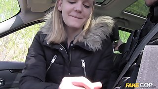 Lecette Error-free gets her pussy fucked by a taxi-cub driver in be transferred to buggy