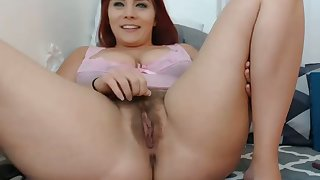 This redhead has the perfect amount be worthwhile for thickness with an increment of I hallow her hairy pussy