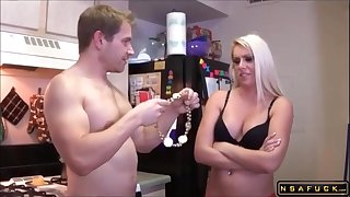 Big-Breasted Blond Fit together Gets Drilled With an increment of Facialized In The Caboose