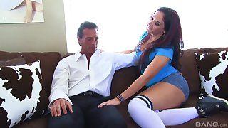 Business man with a lot of money picked up street prostitute Sheena Ryder