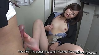 Japanese secretary, Asuka Kyono sucks dick, unc