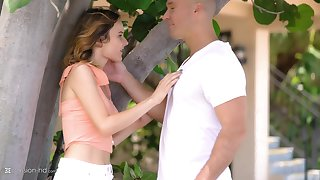 Romantic gender more the apartment with small tits teen Addee Kate