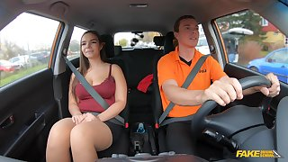 Girl with saggy naturals fucks with their way hot driver teacher