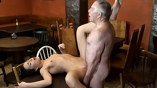 Teen plays with dildo and sex-crazed cheating mature wed Tush