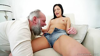 Balls deep gender between an old tongue-lashing and half-starved Annie Wolf
