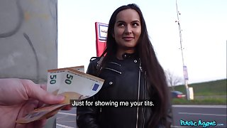Euro babe accepts cash for a nice with reference to of POV sex