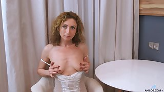 Amateur homemade movie of wife Dafna May doing a striptease