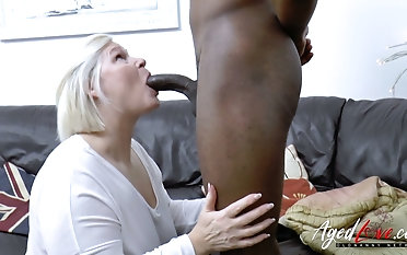 Towheaded lush grandma Lacey Starr gives a oral pleasure increased by gets her twat blacked